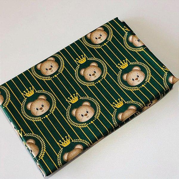 Tecido Urso Verde