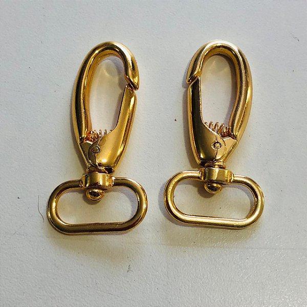 Mosquetão 2cm dourado Cataforético (pct 2)