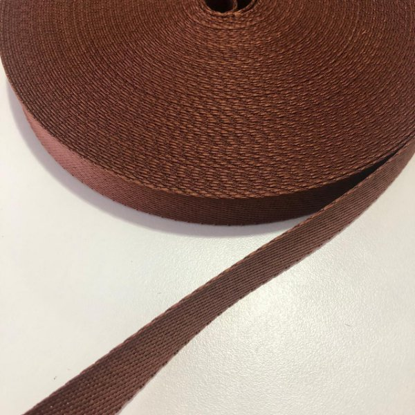 Alça de Poliéster 2cm Caramelo