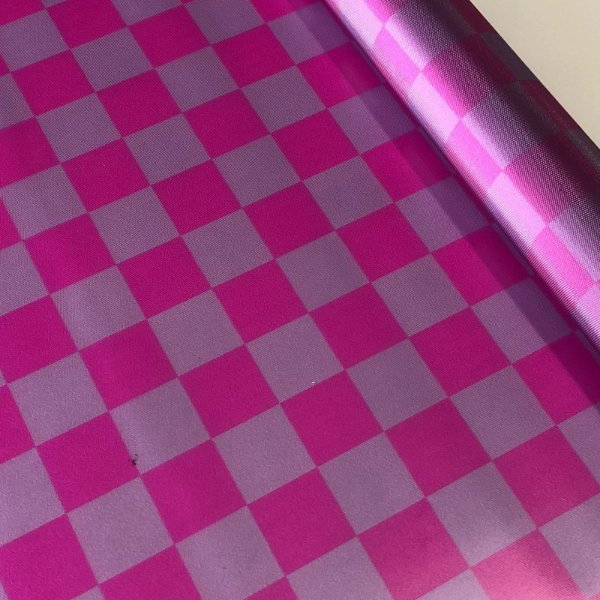 Vinil Translúcido 0,4 Xadrez Lilás e Pink