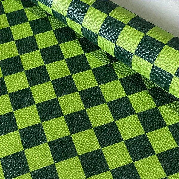 Rustic Xadrez 0,8 Verde Lima e Verde Escuro