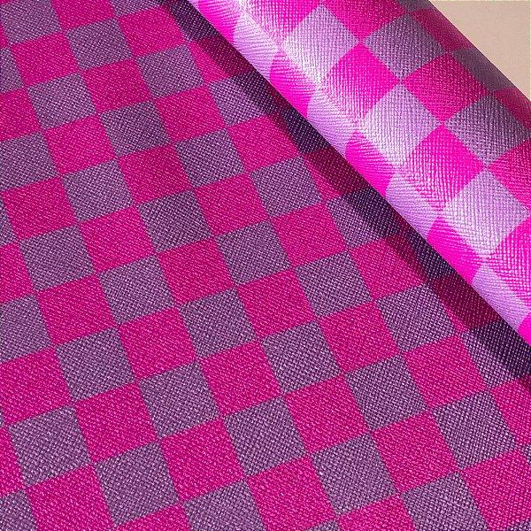 Rustic Xadrez 0,8 Lilás e Pink