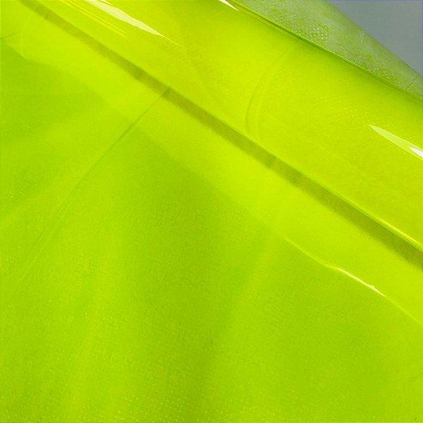 Plástico Cristal 0.40 Amarelo Neon