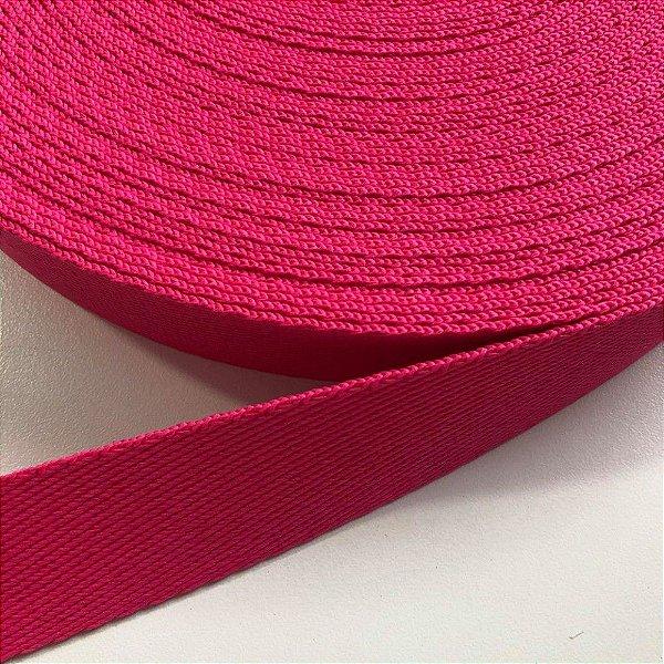 Alça de Poliéster 4cm Pink