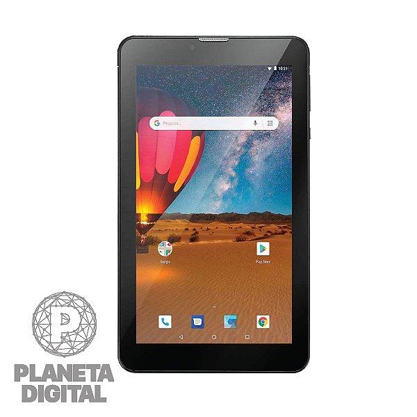 "Tablet M7 3G Plus Tela 7"" NB304 16GB RAM 1GB 3G Câmera 3MP Frontal 1.3MP - MULTILASER"