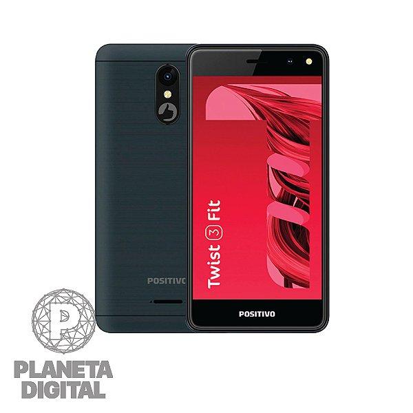 """Smartphone Twist 3 Fit S509C Tela 5"""" 32GB RAM 512MB 3G Câmera 5MP Frontal 5MP - POSITIVO"""