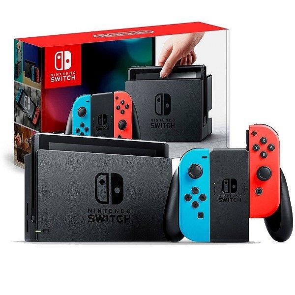 Console Nintendo Switch 32GB Neon Azul e Vermelho - Nintendo