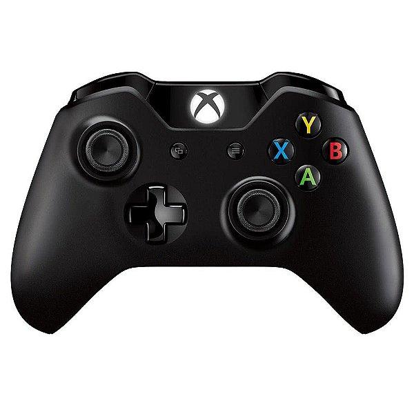 Controle Sem Fio Microsoft Xbox One Preto
