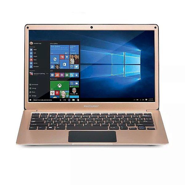 "Notebook Legacy Air Intel Dual Core Windows 10 4GB Tela Full HD 13.3"" Dourado Multilaser"