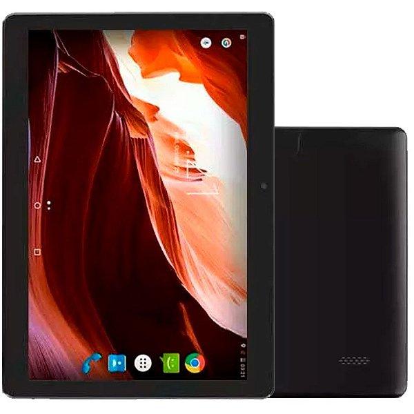 """Tablet M10A Preto Quad Core Android 6.0 Dual Câmera 3G E Bluetooth Tela 10"""" Polegadas Multilaser"""