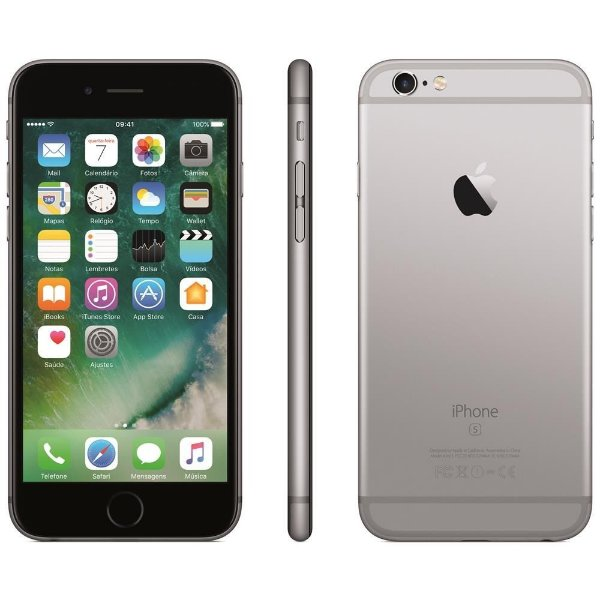 "iPhone 6s Apple 32GB, iOS 9, Tela 5,5"", Sensor Touch ID, Câmera iSight 12MP"