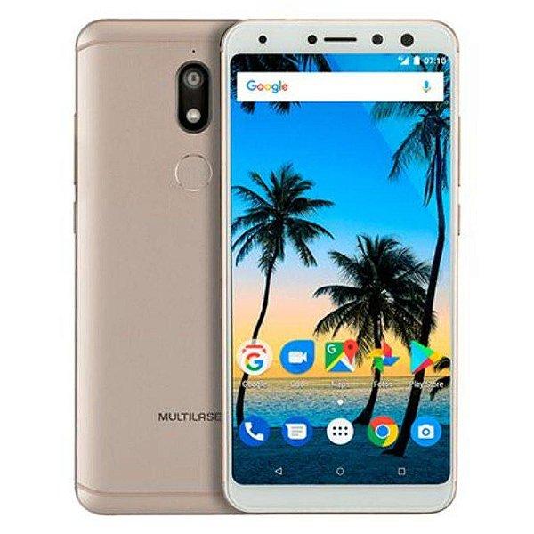 "Smartphone Multilaser MS80 4GB Tela 5,7"", Android 7.1, Dual Câmera 20MP+8MP"