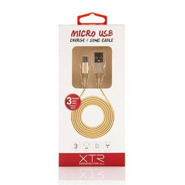 Cabo Micro USB 1.5m Gold XTR