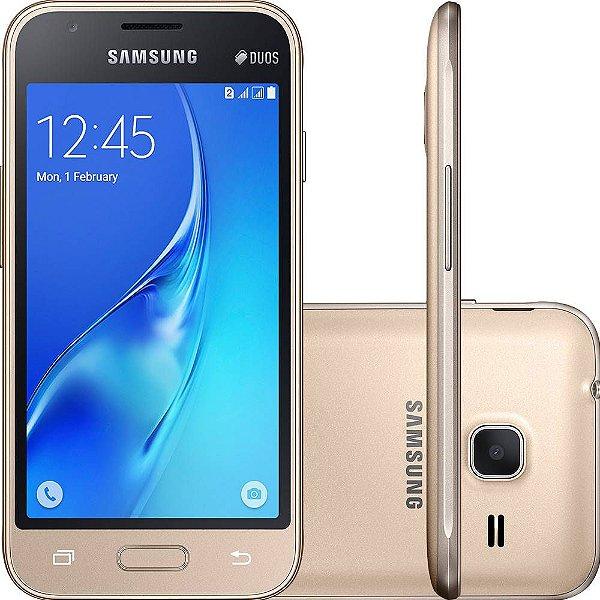 """Smartphone Samsung Galaxy J1 Mini Android 5.1 Tela 4"""" 8GB 3G Wi-Fi Câmera 5MP"""