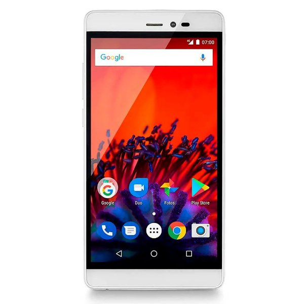 Smartphone MS60 Multilaser 2GB RAM Quad Core 16gb - BRANCO/DOURADO