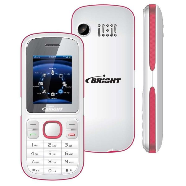 Celular C One Branco e Rosa Bright