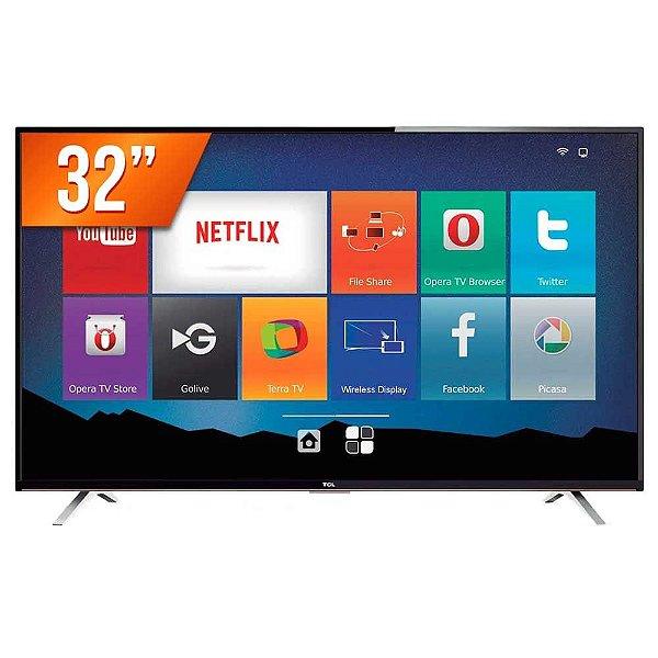 "Smart TV LED 32"" Semp Toshiba TCL HD com Conversor Integrado 3 HDMI 2 USB Wi-Fi"