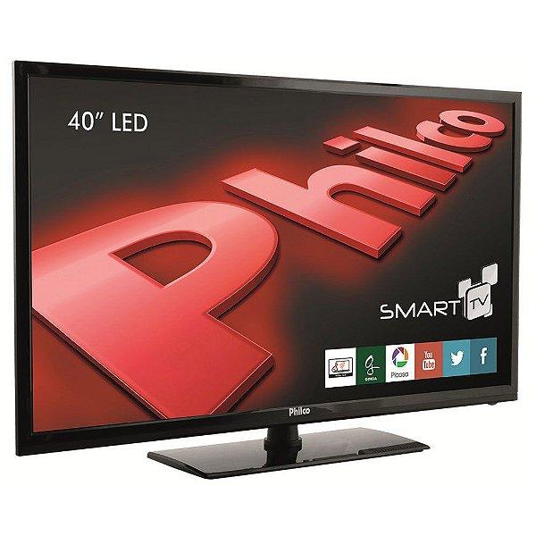 Smart Tv Led 40'' Philco Full HD, Android, Conversor Digital, Wi-Fi, 2 Hdmi, 2 USB