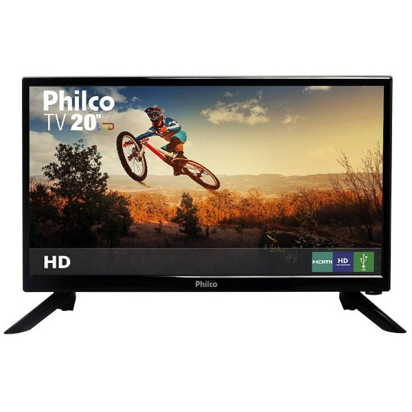 "TV LED 20"" Philco HD com Conversor Digital 1 HDMI 1 USB 60Hz"