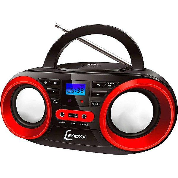 Rádio Portátil Boombox BD-129 Lenoxx