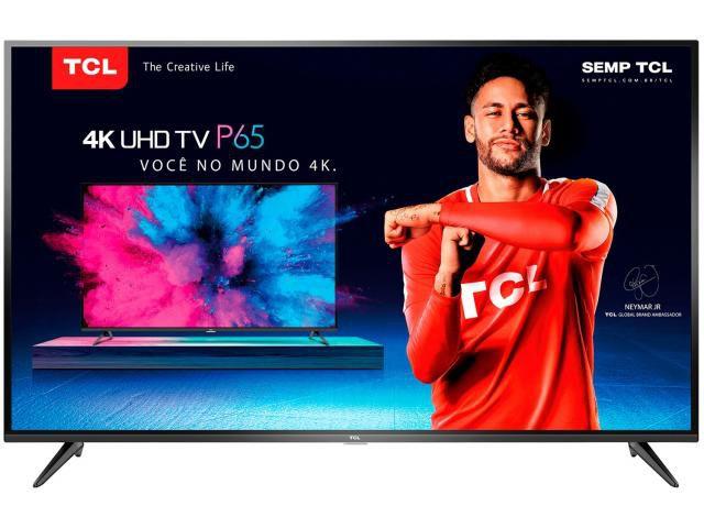 """Smart TV LED 50"""" 4K/Ultra HD Conversor Digital Wi-Fi 3 HDMI 2 USB TCL"""