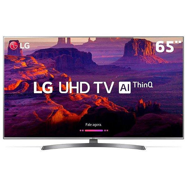 "Smart TV LED 65"" Ultra HD 4K LG 65UK6540PSB com IPS, Inteligência Artificial ThinQ AI, WI-FI, Processador Quad Core, HDR 10 Pro, HDMI e USB"