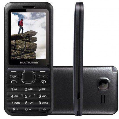 Celular Multilaser View TV Dual Chip Bluetooth P3266 Cinza