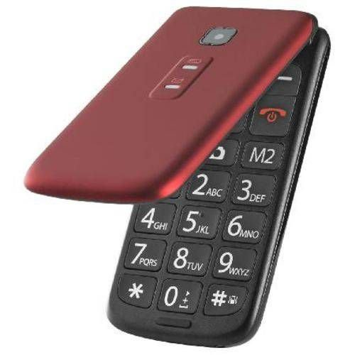 Celular Flip Vita Dual Chip Vermelho P9021