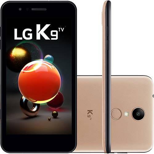 """Smartphone LG K9 TV Dual Chip Android 7.0 Tela 5"""" Quad Core 1.3 Ghz 16GB Câmera 8MP - Dourado"""
