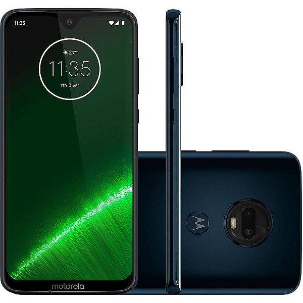 "Smartphone Motorola Moto G7 Plus 64GB Dual Chip Android Pie - 9.0 Tela 6.3"" 1.8 GHz Octa-Core 4G Câmera 16MP F1.7 + 5MP F1.9 (Dual Cam) - Indigo"