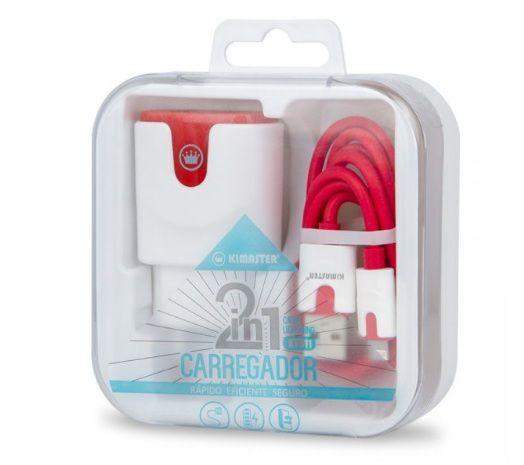 CARREGADOR KIMASTER 2 USB + CABO KT611