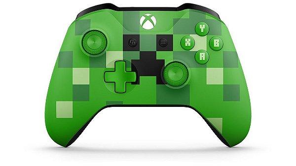 Controle sem fio Xbox One– Minecraft