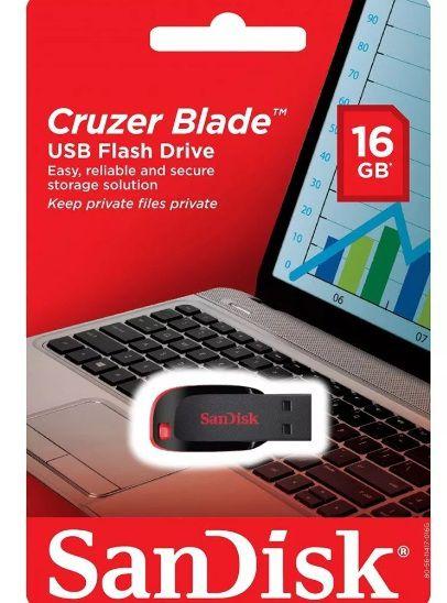 Pen Drive 16GB Cruzer Blade - Sandisk