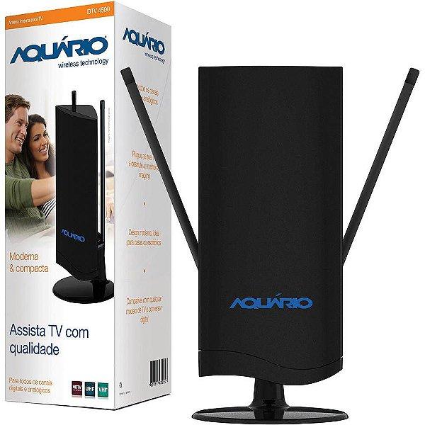Antena Interna Aquário DTV-4500 VHF, UHF & HDTV - Aquário