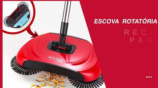 Vassoura Multifuncional UD010 NKS Milano com Compartimento para Lixo