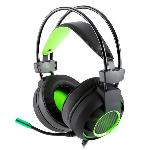 Headset Gamer Diamond 7.1 Preto/Verde 624685  - Dazz