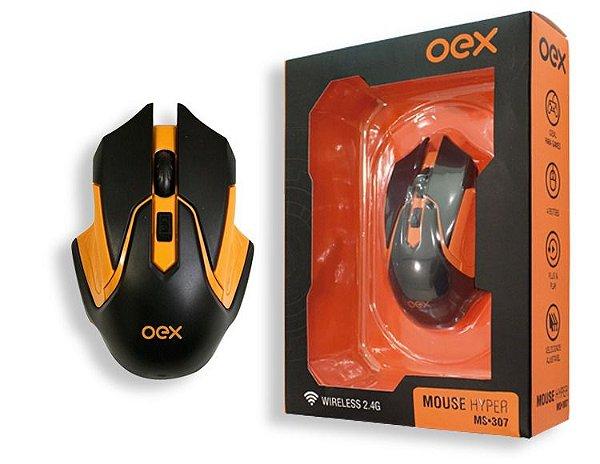 Mouse Gamer Sem Fio Hyper 2.400 DPI MS307 - Oex