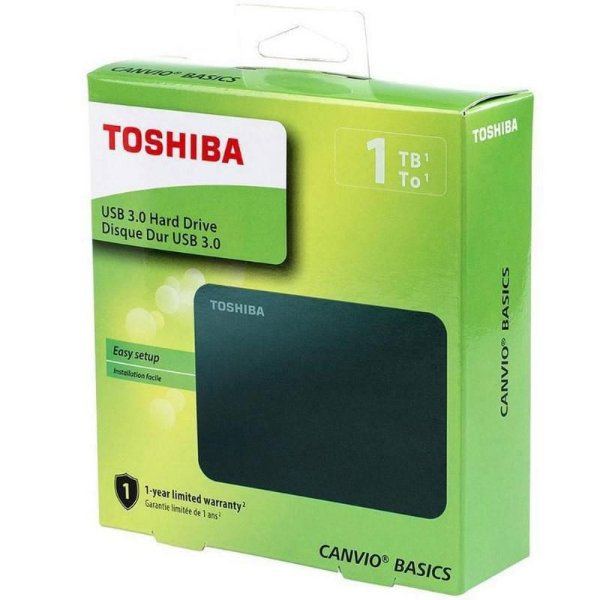 HD Externo 1TB 2.5 Toshiba HDTB410 Canvio USB 3.0 - Toshiba