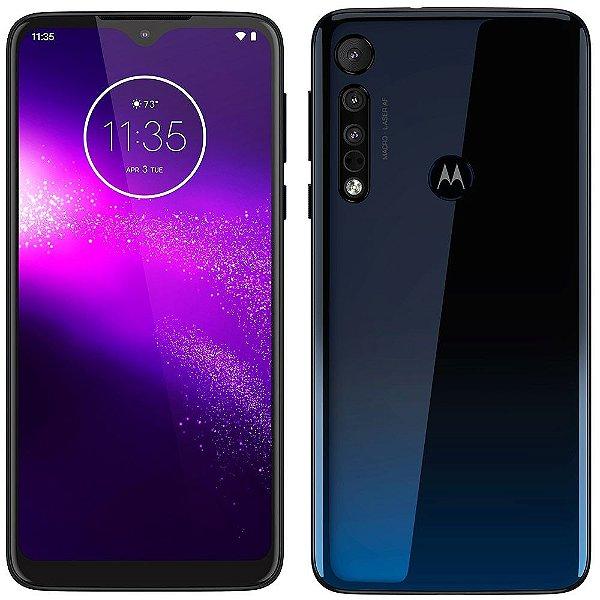 "Smartphone Motorola Moto One Macro 64GB ANDROID TELA 6.2"" 13MP+2MP+2MP 4GB RAM"