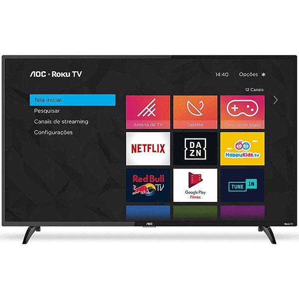 "Smart TV AOC 32"" Roku TV LED 32S5195/78 Wifi Integrado Roku Mobile Netflix HDMI USB - AOC"