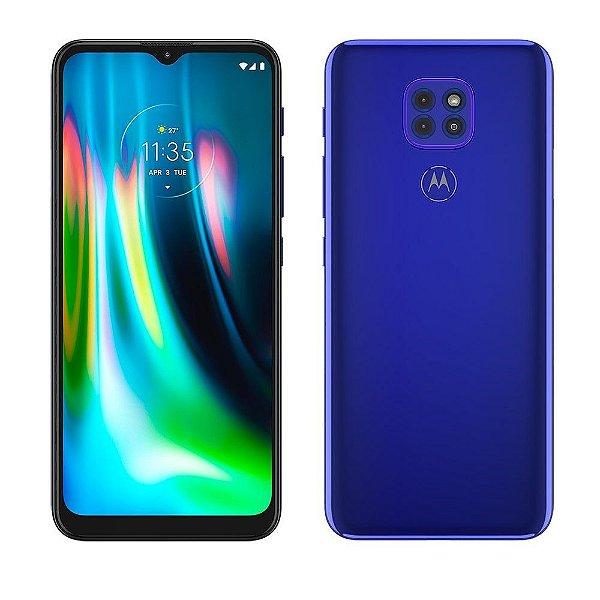 "Smartphone Motorola Moto G9 Play Dual Chip, Android Tela 6.5"" 64GB 4GB RAM, Câmera 48MP+2MP+2MP Qualcomm Snapdragon - Azul Safira"