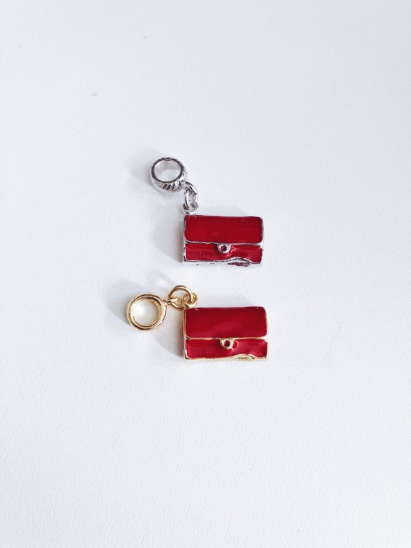 Berloque bolsa vermelha