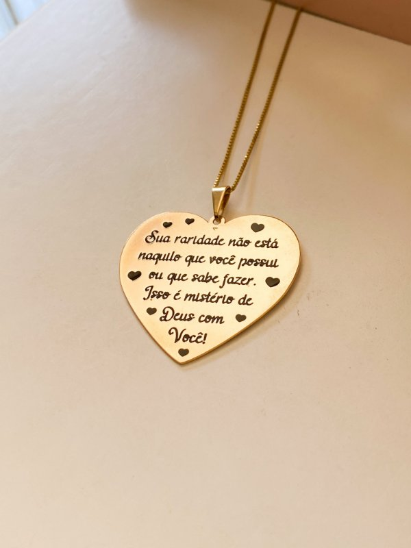 Personalizado frase coração sua raridade