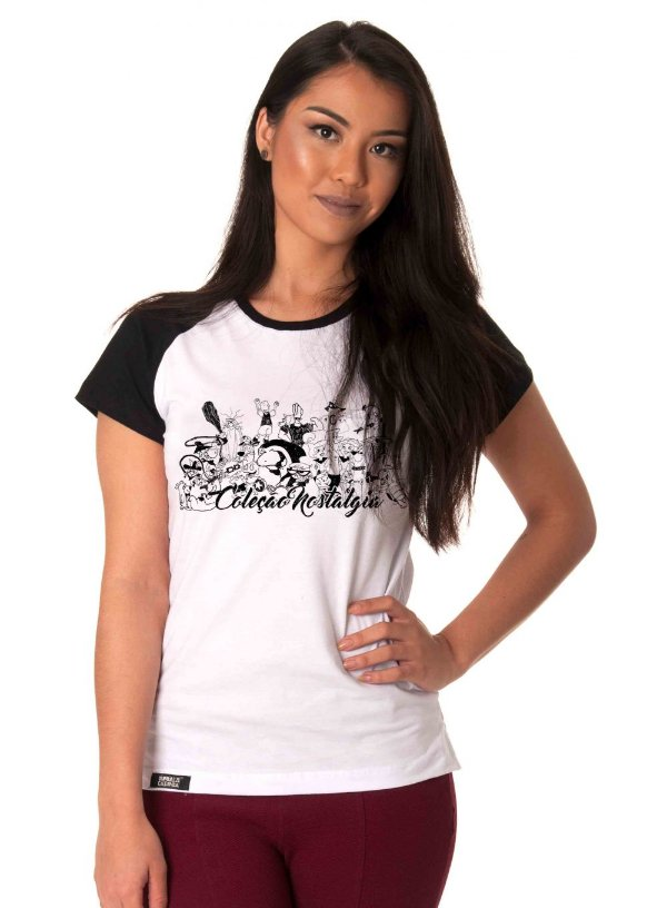Camiseta Raglan Longline - Hanna-Barbera