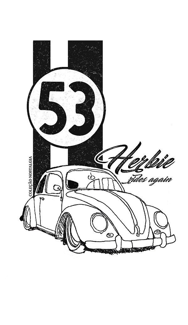 Camiseta raglam 3/4 Longline - Masculina - Fusca Herbie