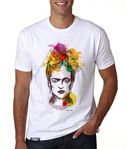 camiseta lisa branca - masculina - Freda Kahlo