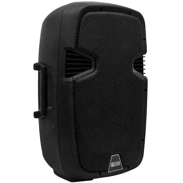 Caixa Amplificada CSR 5515A, c/ Entradas USB/SD, Efeito Echo, 300W RMS