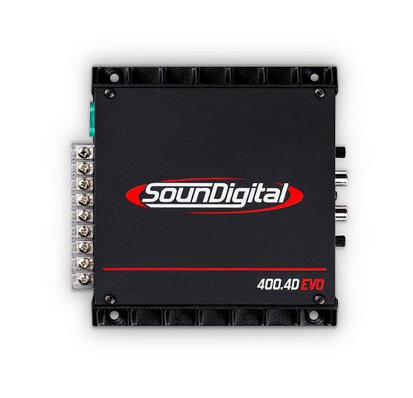 AMPLIFICADOR SOUNDIGITAL SD400.4D EVO Bridge 4 OHMS
