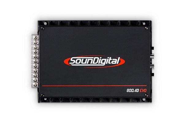 AMPLIFICADOR SOUNDIGITAL SD800.4 Bridge 2 Ohms
