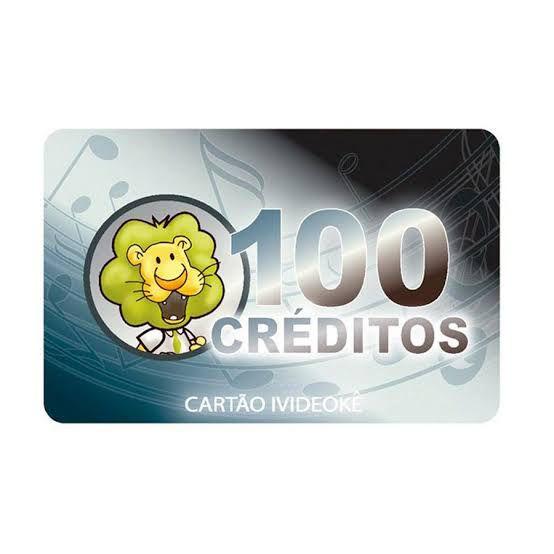 VIDEOKE CARTÃO PRÉ-PAGO 100 CRÉDITOS P/ ivideoke